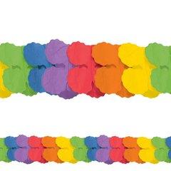 Rainbow Paper Garland, 12'