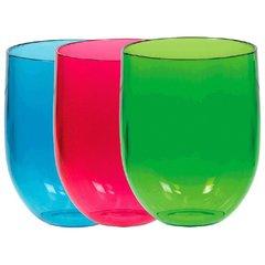 Summer Stemless Wine Glasses, Asst. Colors