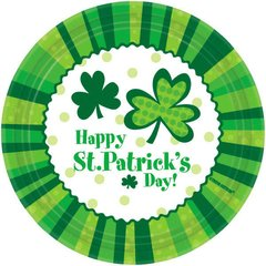 St. Patrick's Day Cheer Lunch Plates, 9""