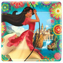 ©Disney Elena of Avalor Square Plates, 9""