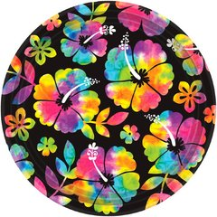 "Neon Paradise Round Plates, 10 1/2"""