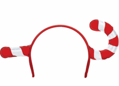 Candy Cane Novelty Headband