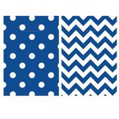 Chevron Loot Bags - Bright Royal Blue