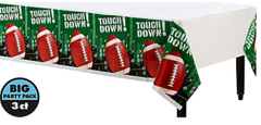 Football Frenzy Plastic Table Covers, 3-Pack