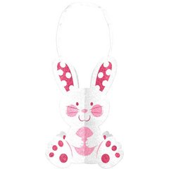 3-D Glitter Bunny Decoration