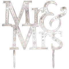 """Mr. & Mrs."" Cake Topper"