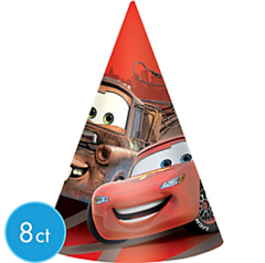 ©Disney Cars Formula Racer Paper Cone Hats