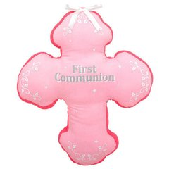 First Communion Autograph Pillow - Pink