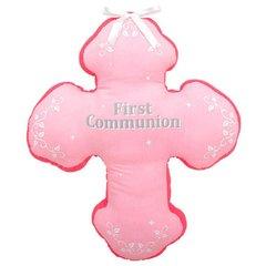 First Communion Autograph Pillow - Pink