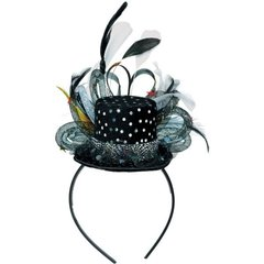 Deluxe Hollywood Mini Top Hat Headband