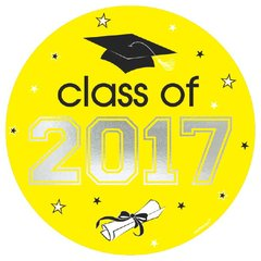 2017 Grad Car Decal - Yellow