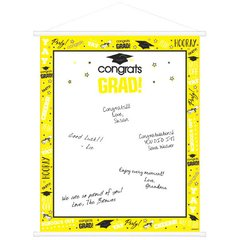 Yellow Graduation Sign-In Scroll