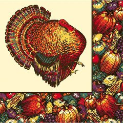 Autumn Turkey Dinner Napkins
