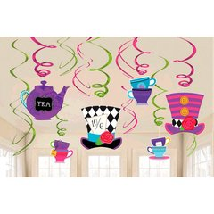 Mad Tea Party Swirl Decorations