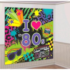 Totally 80's Scene Setters Wall Decorating Kit