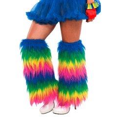 Rainbow Plush Leg Warmers