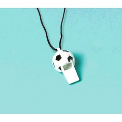 Soccer Ball Mini Whistles 12ct