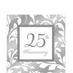 25th Anniversary Lunch Napkins