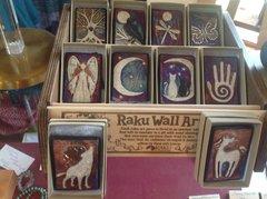 RAKU SMALL WALL ART - 2 inch Tile