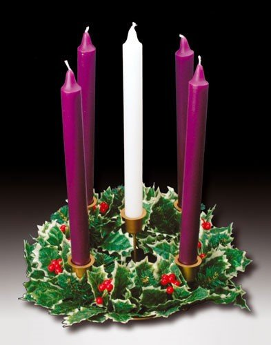 Advent Wreath with Holly Decoration and Candles | FM ...