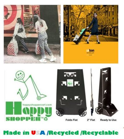 HAPPY SHOPPER™PERFECT-TODAY'S LIFESTYLE! LIGHT; STRONG; FOLD FLAT;; CARRY BAGS;CASE;HANG CLOTHES!!