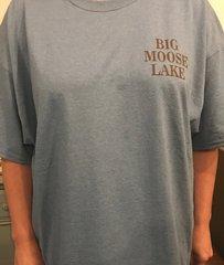 Big Moose Lake Map T-Shirt