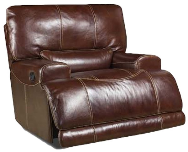 Corinthian el paso walnut genuine italian leather recliner Sofa mart el paso tx