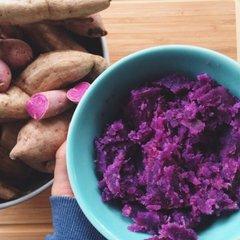 Veg_Hawaii Purple Yam 15 lbs【公认最好吃番薯/特价】夏威夷紫心番薯半箱15磅