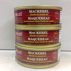 RUS_Mackerel Chunks in Oil 240g