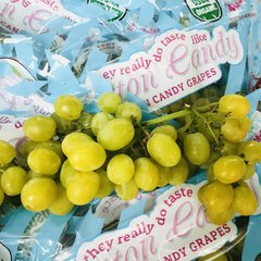 Organic Cotton Candy Grapes 16 lbs box有机棉花糖无籽葡萄16磅箱
