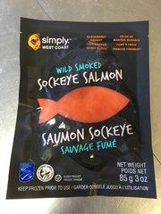 Seafood_Frozen Wild Sockey Smoked Salmon 80 g/bag 野生Sockeye冷熏三文鱼 80克/袋