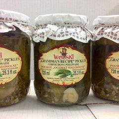 POL_Wolski Grandma's Recipe Pickles 720ml (No Shipping, Pick-Up Only)