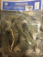 Black Tiger Shrimp 1lb/冰鲜去头特大老虎虾1磅(8-12只)