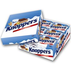 Knoppers Wafer 24X25g box 德国Knoppers榛子威化饼24个/盒