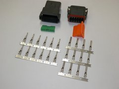 12X Black Deutch DT Series Connector Set 16-18-20 STAMPED Nickel Terminals