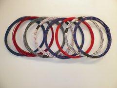 20 gauge TXL wire - 8 STRIPED colors each 10 foot long