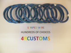 16 gauge GXL wire - Individual light blue Striped Color and Size Options