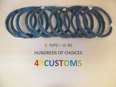 18 gauge GXL wire - Individual Light Blue Striped Color and Size Options