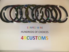16 gauge GXL wire - Individual Black Striped Color and Size Options