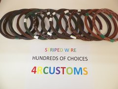 16 gauge GXL wire - Individual Brown Striped Color and Size Options