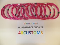 18 gauge GXL wire - Individual Pink Striped Color and Size Options