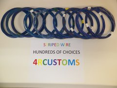 16 gauge GXL wire - Individual Blue Striped Color and Size Options