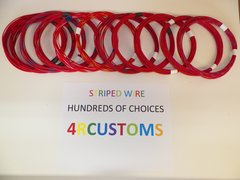 16 gauge GXL wire - Individual Red Striped Color and Size Options
