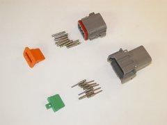 8X Gray Deutsch DT Series Connector Set 14-16-18 SOLID Nickel Terminals