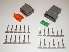 12X Gray Deutch DT Series Connector Set 16-18-20 STAMPED Nickel Terminals