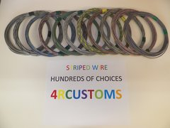 16 gauge GXL wire - Individual Gray Striped Color and Size Options