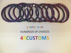 18 gauge GXL wire - Individual Violet Striped Color and Size Options