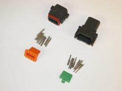 8X Black Deutsch DT Series Connector Set 14-16-18 SOLID Nickel Terminals