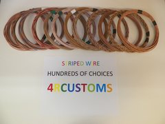 16 gauge GXL wire - Individual Tan Striped Color and Size Options