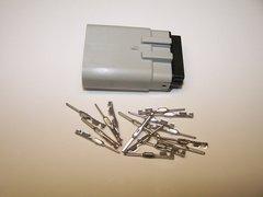 1 Harley 16x Gray Male OEM Molex MX150 connector+terminals